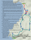 Hiking Map Of Chacala to Playa Las Cuevas